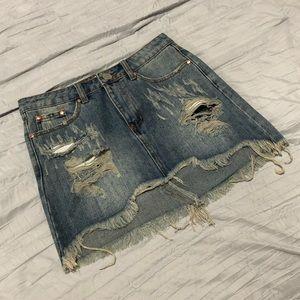 NWT FashionNova  Denim Skirt